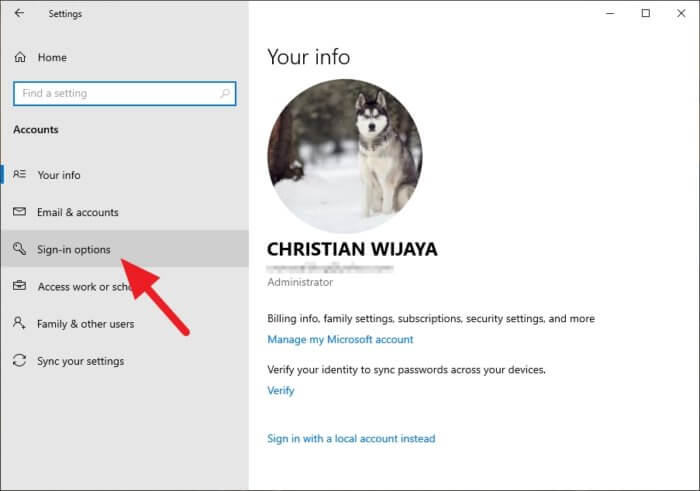 sign in options Cara Aktifkan 'Picture Password' di PC/Laptop Windows 10 3 sign in options