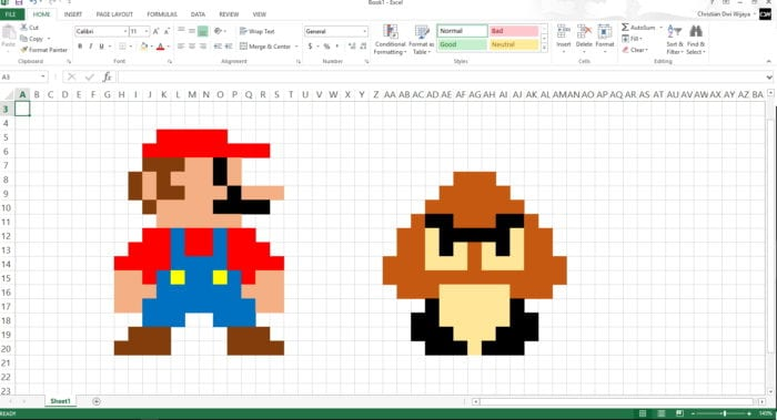 How to Make 8-bit Art Using Microsoft Excel