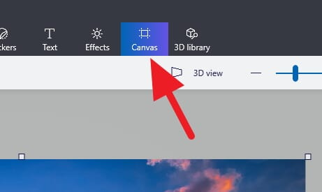 Canvas menu - How to Resize Image in Paint 3D Easily 6