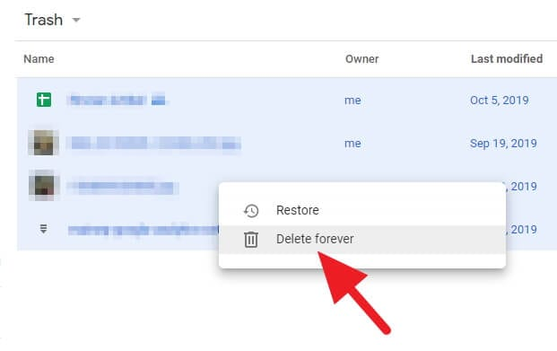 Delete Trash File Permanently - How to Quickly Find Largest Files on Google Drive 15