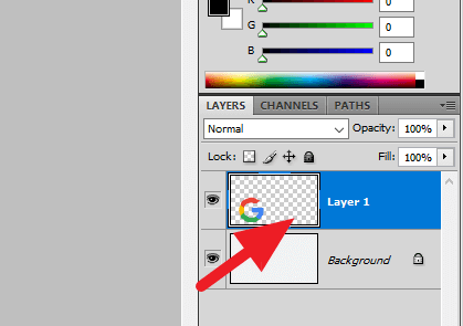 Select layer - How to Center an Image in Photoshop 9