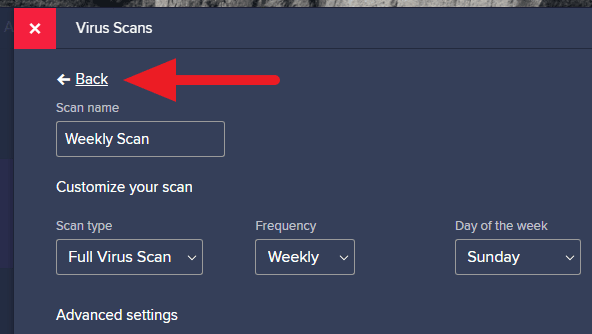 back avast - How to Schedule Automatic Scan on Avast Free Antivirus 23