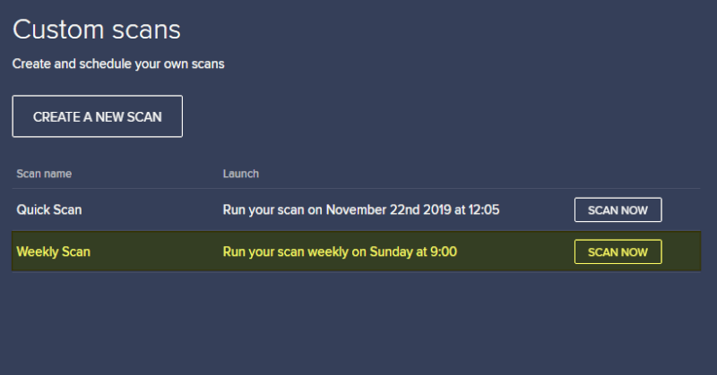 custom scans has created - How to Schedule Automatic Scan on Avast Free Antivirus 25