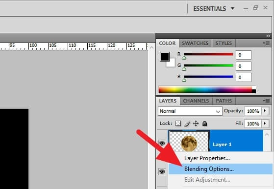Blending Options... - How to Make Something Glow in Photoshop 9
