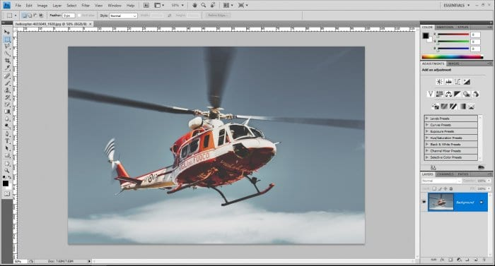 Helicopter photo on Photoshop - How to Instantly Flip Image in Photoshop 5