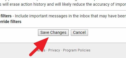 Save changes - How to Find Unread Emails in Gmail Desktop 23
