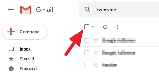 Select all emails - How to Mark All Unread Emails as Read in Gmail Instantly 9