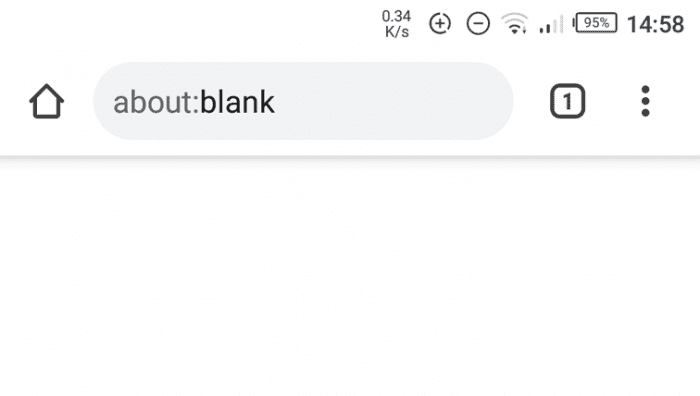 blank home page - How to Start Chrome Android Always Start with Blank Page 3