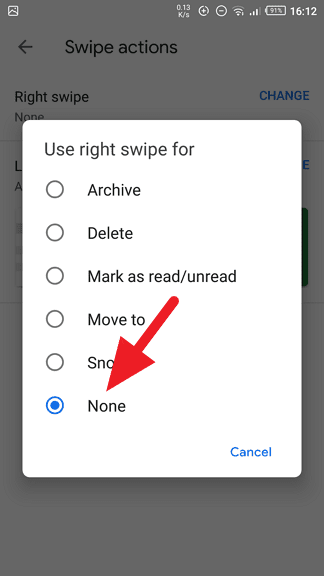 none - How to Disable Swipe to Archive in Gmail App 17
