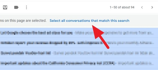 select all conversations that match this search - How to Mark All Unread Emails as Read in Gmail Instantly 11