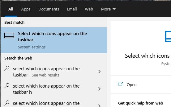 select which icons appear on the taskbar - How to Remove NVIDIA Control Panel from System Tray 11