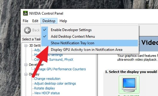 uncheck show notification tray icon - How to Remove NVIDIA Control Panel from System Tray 7