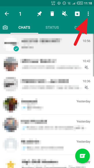 More options - How to Archive / Unarchive WhatsApp Messages Quickly 17
