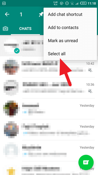 Select all - How to Archive / Unarchive WhatsApp Messages Quickly 19