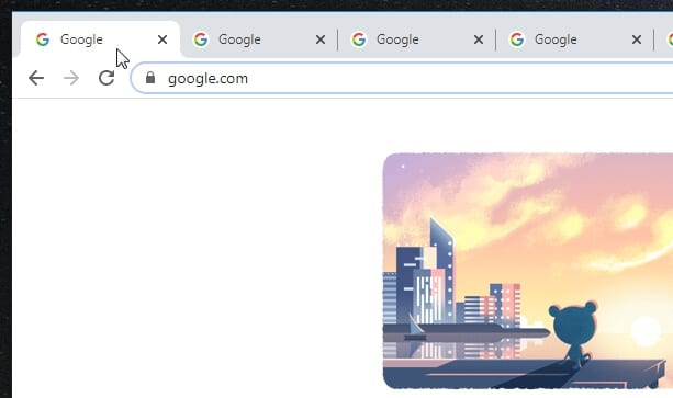 click first tab - How to Merge Two Chrome Windows with Multiple Tabs 3