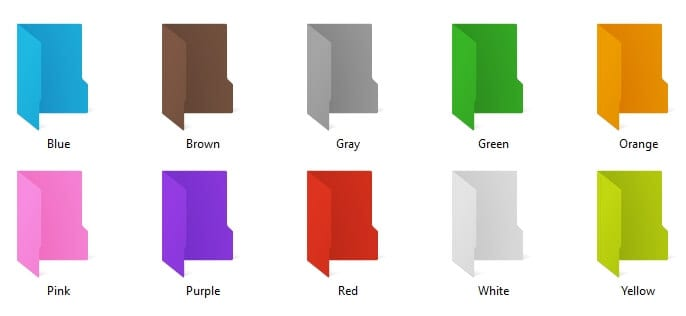 colored folders - How to Change Folder Icon Color on Windows 10 3