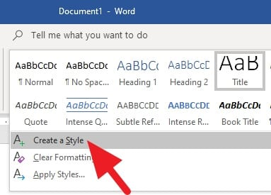 create style - How to Quickly Add Heading in Microsoft Word 19