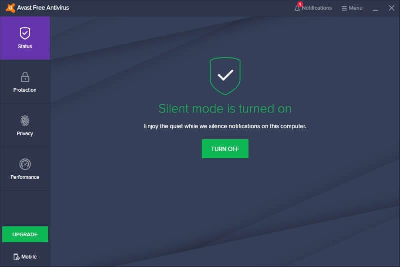 silent mode on - How to Disable Avast Notifications, Messages, & Alerts 17