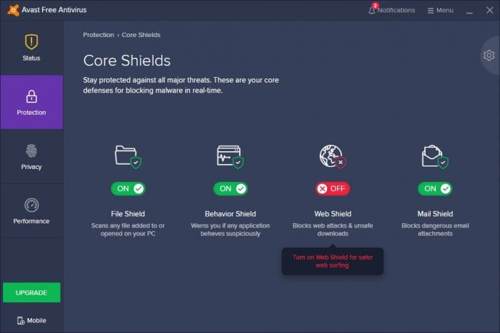web shield stopped - How to Stop Avast From Blocking Websites 17