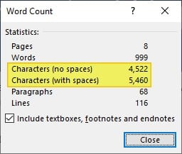 Characters - How to See How Many Characters in a Ms. Word Document 11