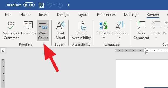 Word Count - How to See How Many Characters in a Ms. Word Document 9