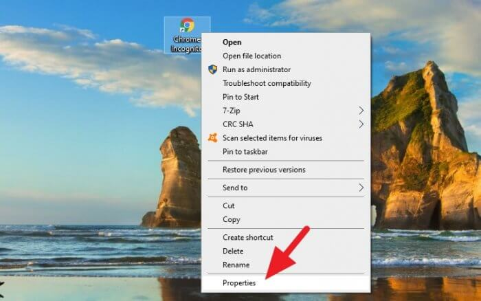 chrome properties - How to Create Chrome Incognito Mode Shortcut on Desktop 15