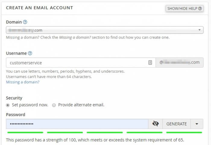 domain username password - How to Create Email Accounts With Your Domain in cPanel 9