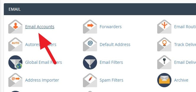 email accounts - How to Create Email Accounts With Your Domain in cPanel 3