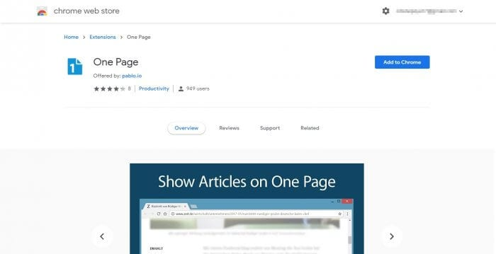 One Page - 5 Browser Extensions to Merge Multi-Pages News Site into One 11