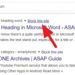 How Block Website from Google Search Results
