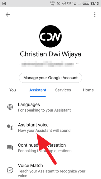 Assistant voice - How to Change Google Assitant Voice on Android 9