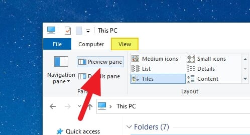Preview Pane - How to Enable Preview Pane on Windows 10 5