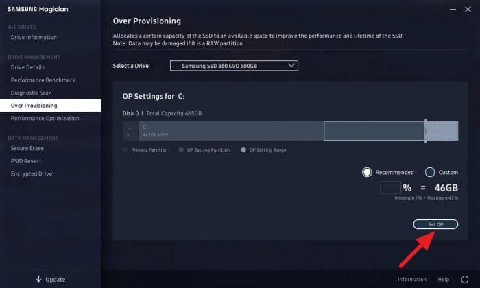 Set OP - How to Enable Over Provisioning on Samsung SSD to Make it Last Longer 9