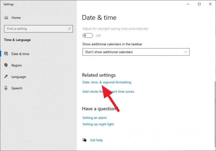 data time and regional formatting - How to Switch Windows 10 Clock Format to 24-Hour 7