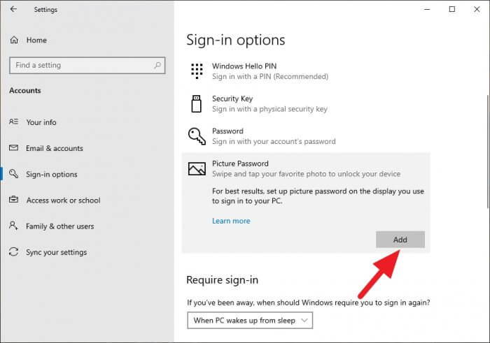 picture password add - How to Enable 'Picture Password' on Windows 10 With Your Photo 11