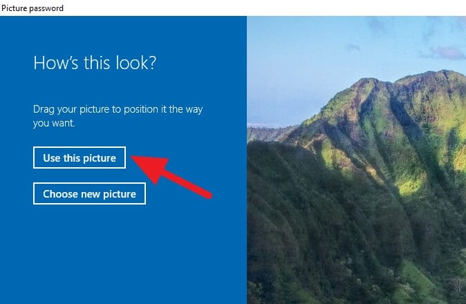 use this picture - How to Enable 'Picture Password' on Windows 10 With Your Photo 3