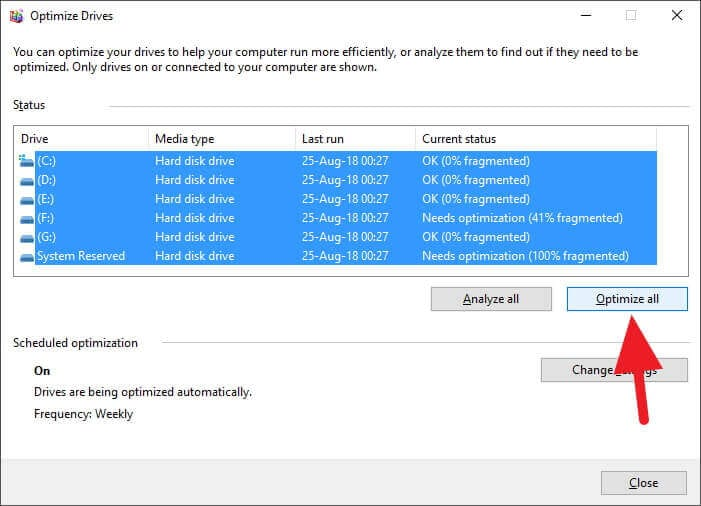Defrag HDD - 5 Tips to Speed-Up Antivirus Scan on Your PC 5