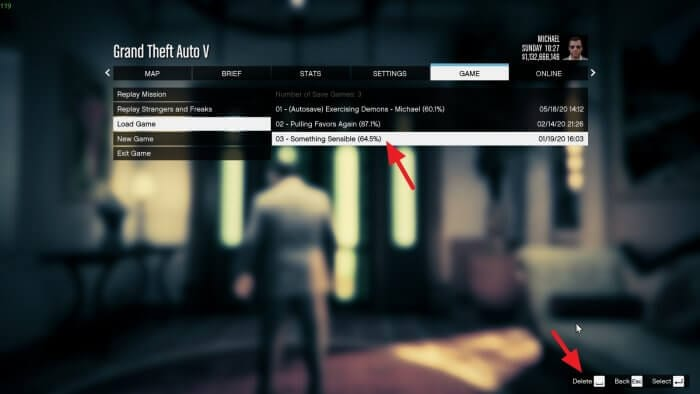 Delete save - How to Delete Save Game Data on GTA V 3