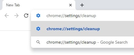 chrome cleanup address 1 - How to Scan Google Chrome from Malware 3
