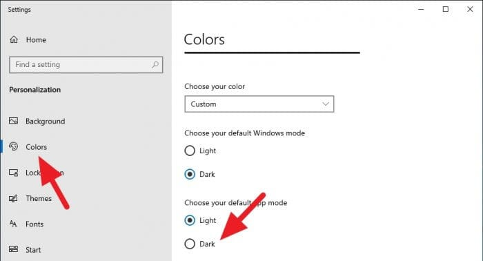 colors dark - How to Enable True Night Mode on Chrome PC 13