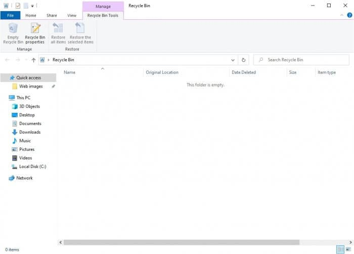 recycle bin empty - How to Always Delete Files Permanently on Windows 9