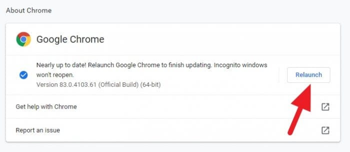Relaunch - How to Update Google Chrome Desktop Instantly 9