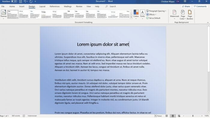Microsoft Word Gradient - How to Change Background Color on Microsoft Word 3