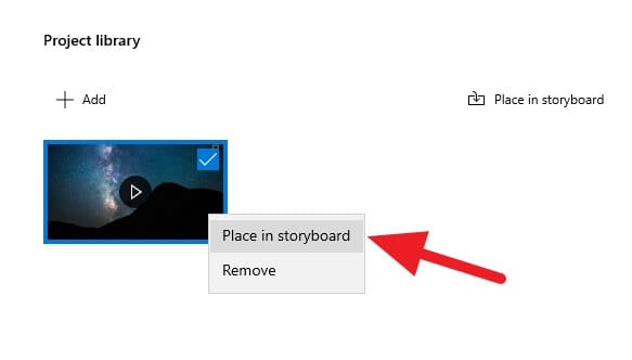 Place in storyboard - How to Trim Video on Windows 10 PC Quickly 15