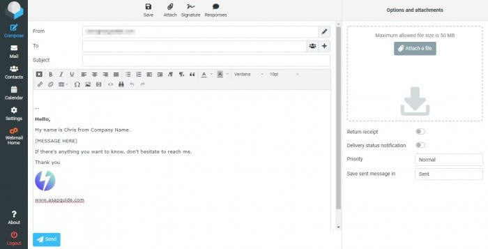 RoundCube Compose - How to Create Email Template in RoundCube Webmail 3