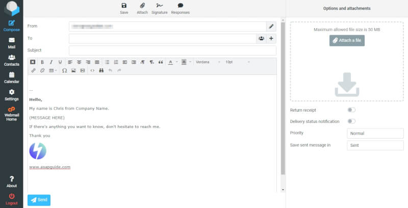 RoundCube Compose - How to Create Email Template in RoundCube Webmail 15
