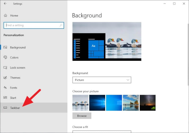 Taskbar 1 - How to Show Missing Time and Date in Taskbar on Windows 10 9