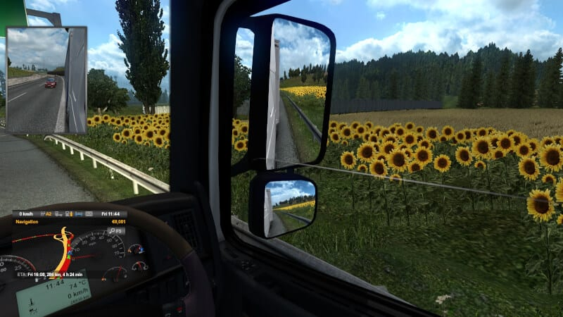 Window half open - How to Open Side Windows on Euro Truck Simulator 2 13