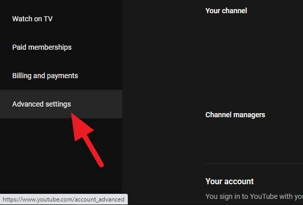 Advanced settings - How to Delete Youtube Channel Without the Main Account 7