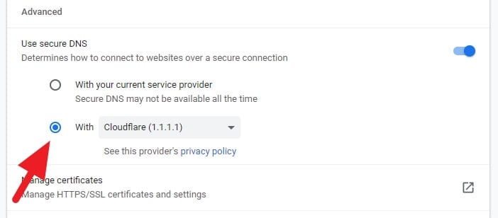 Check Cloudflare - How to Open Blocked Websites Without VPN 11